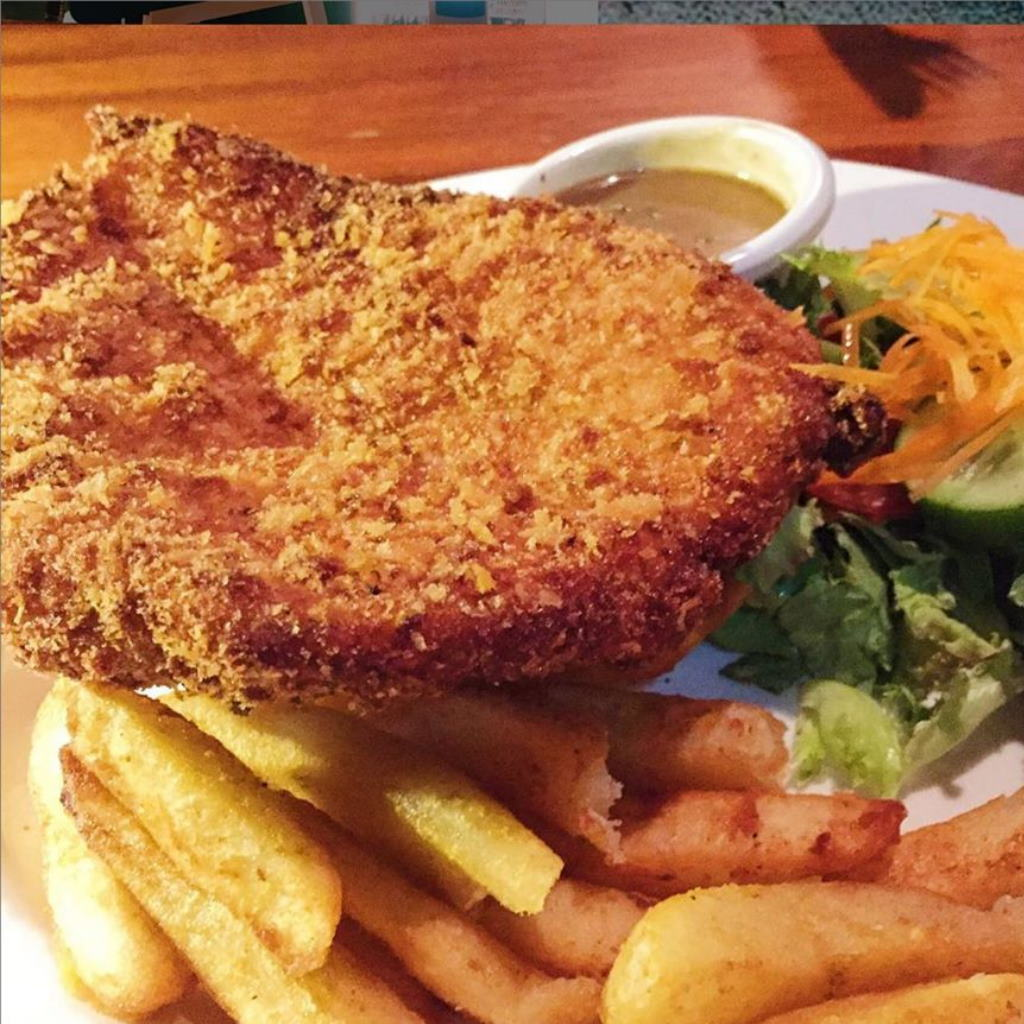 Crumbed Steak The Amaroo Tavern Moree